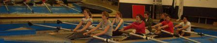 Rowing lessons in the 'tank'